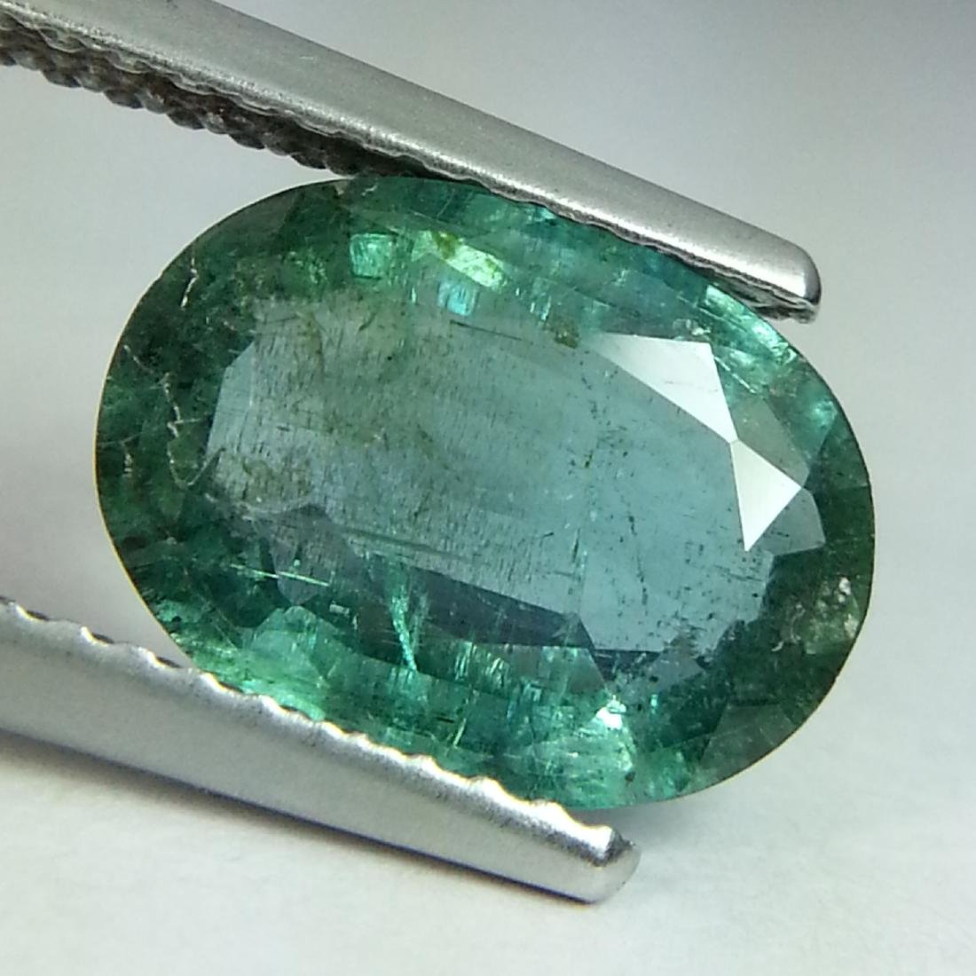 Rare Gem Oval Cut Natural Emerald - 1.93 ct