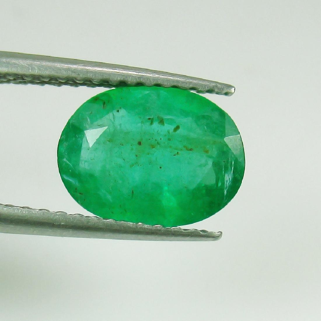1.47 Ct Genuine Loose Zambian Emerald 9X7 mm Oval cut
