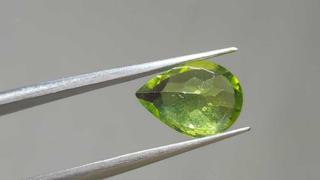 NATURAL PEAR SHAPE PERIDOT - 4