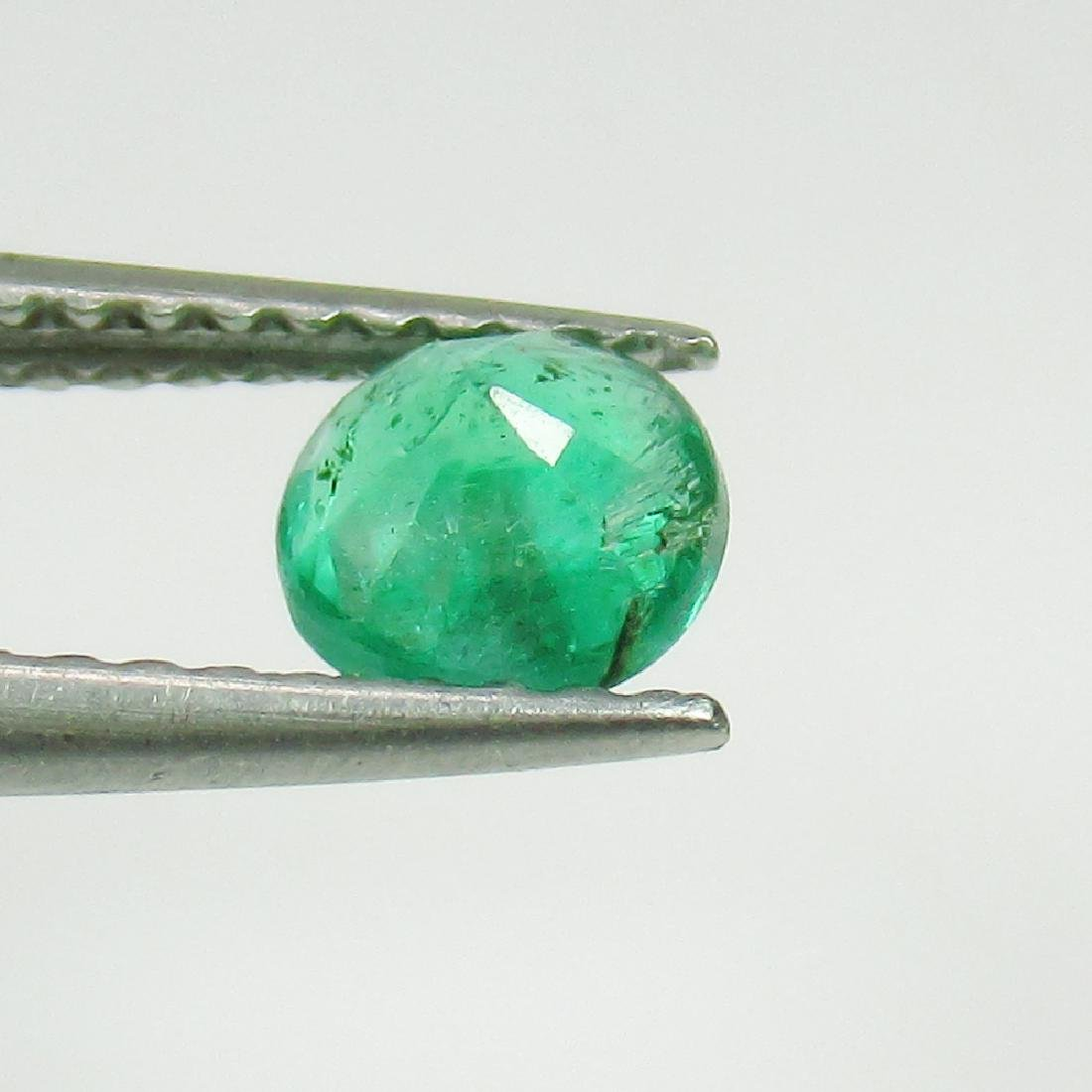 0.43 Ct Genuine Loose Zambian Emerald Good Luster 5.0 - 2