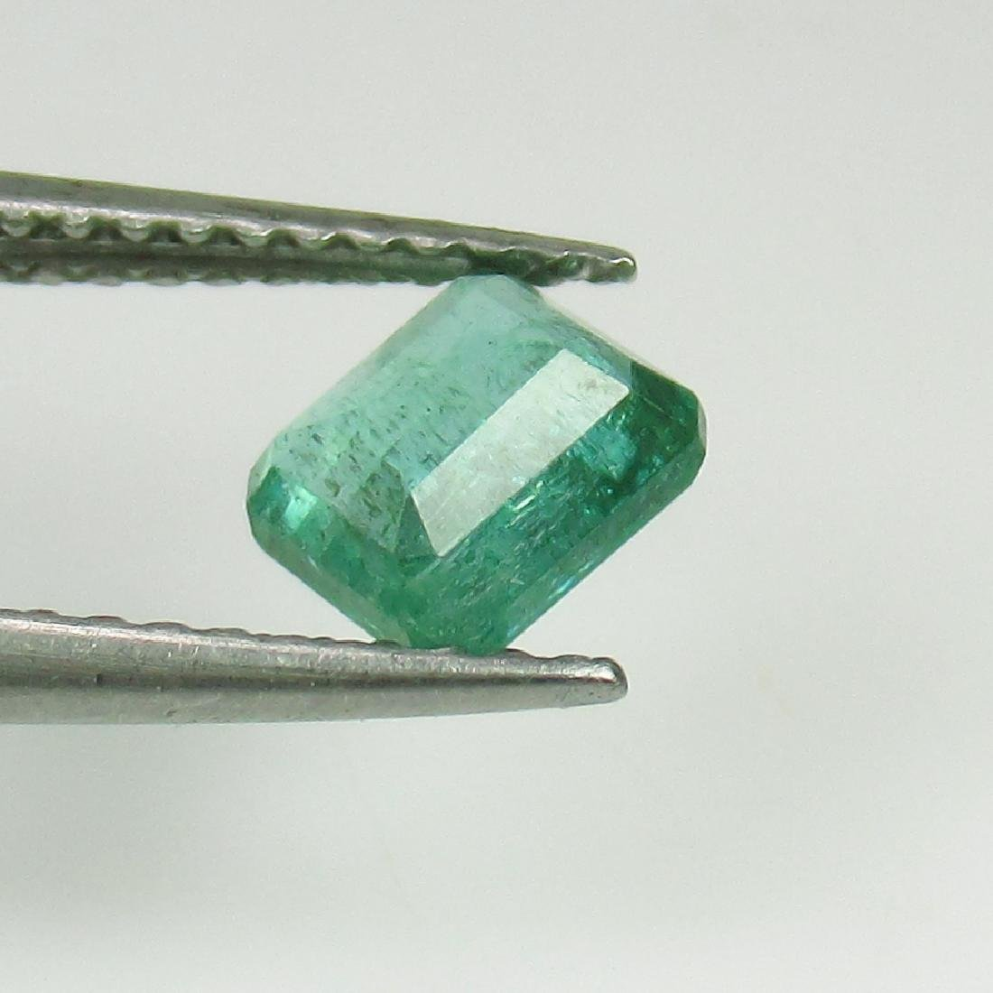 0.78 Ct Genuine Loose Zambian Emerald Octagon cut - 2