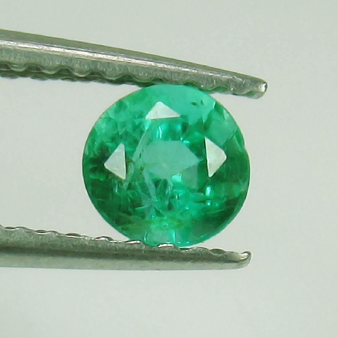 0.33 Ct Genuine Loose Zambian Emerald Good Luster Nice