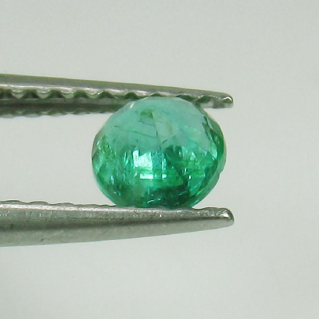 0.33 Ct Genuine Loose Zambian Emerald Good Luster Nice - 2