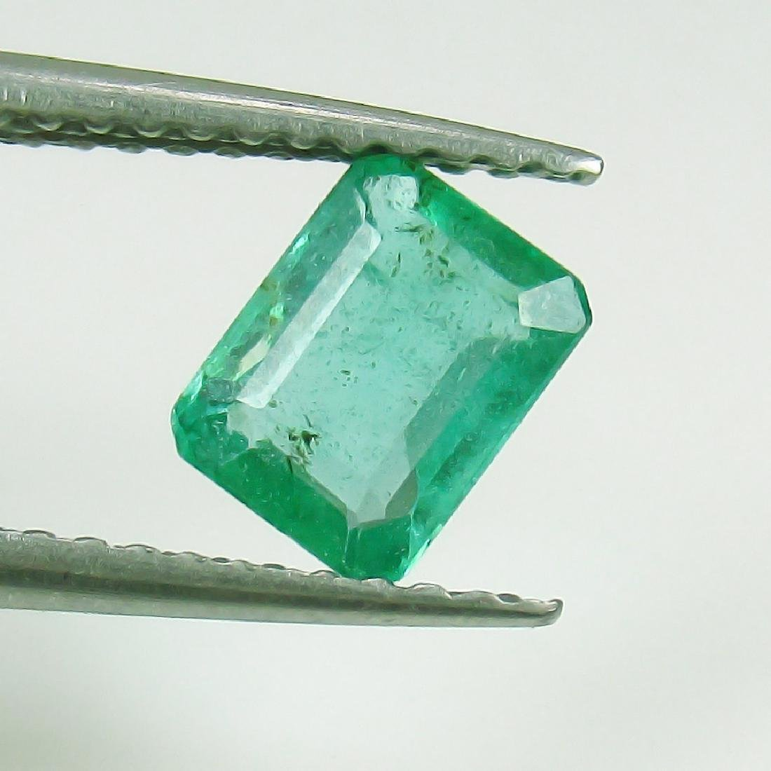 0.70 Ct Genuine Loose Zambian Emerald Excellent Octagon