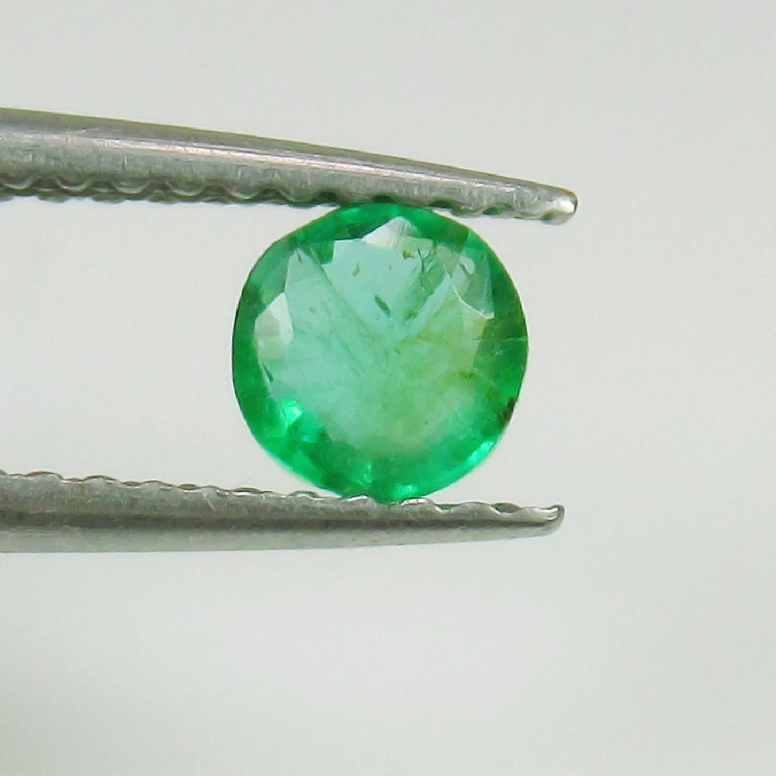 0.36 Ct Genuine Loose Zambian Emerald Good Luster 4.6