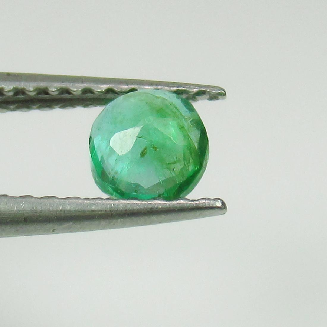 0.36 Ct Genuine Loose Zambian Emerald Good Luster 4.6 - 2