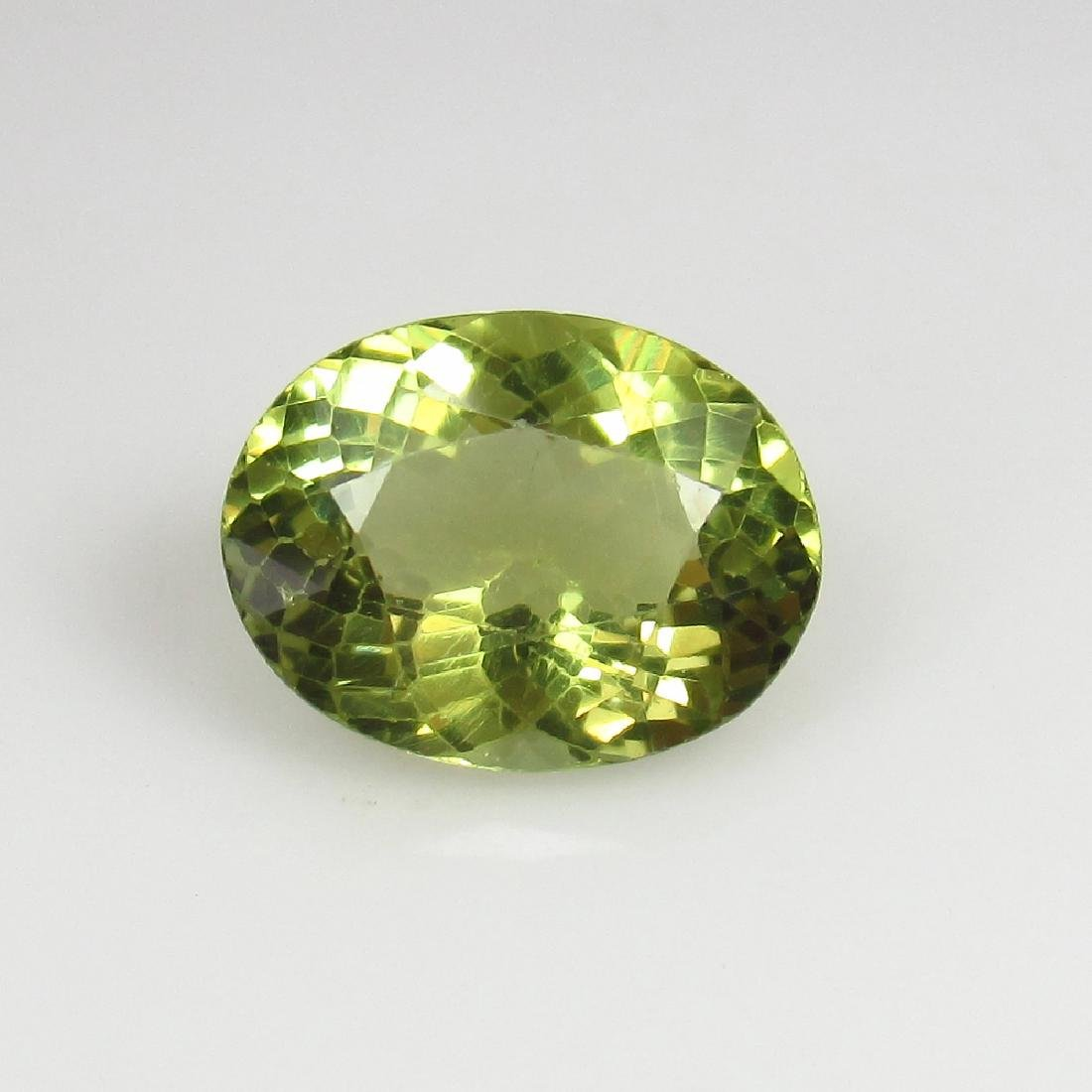 3.10 Ct Genuine Loose Good Luster Yellowish Green
