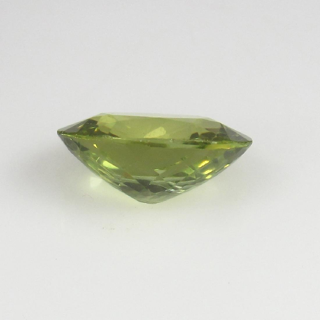 3.10 Ct Genuine Loose Good Luster Yellowish Green - 3