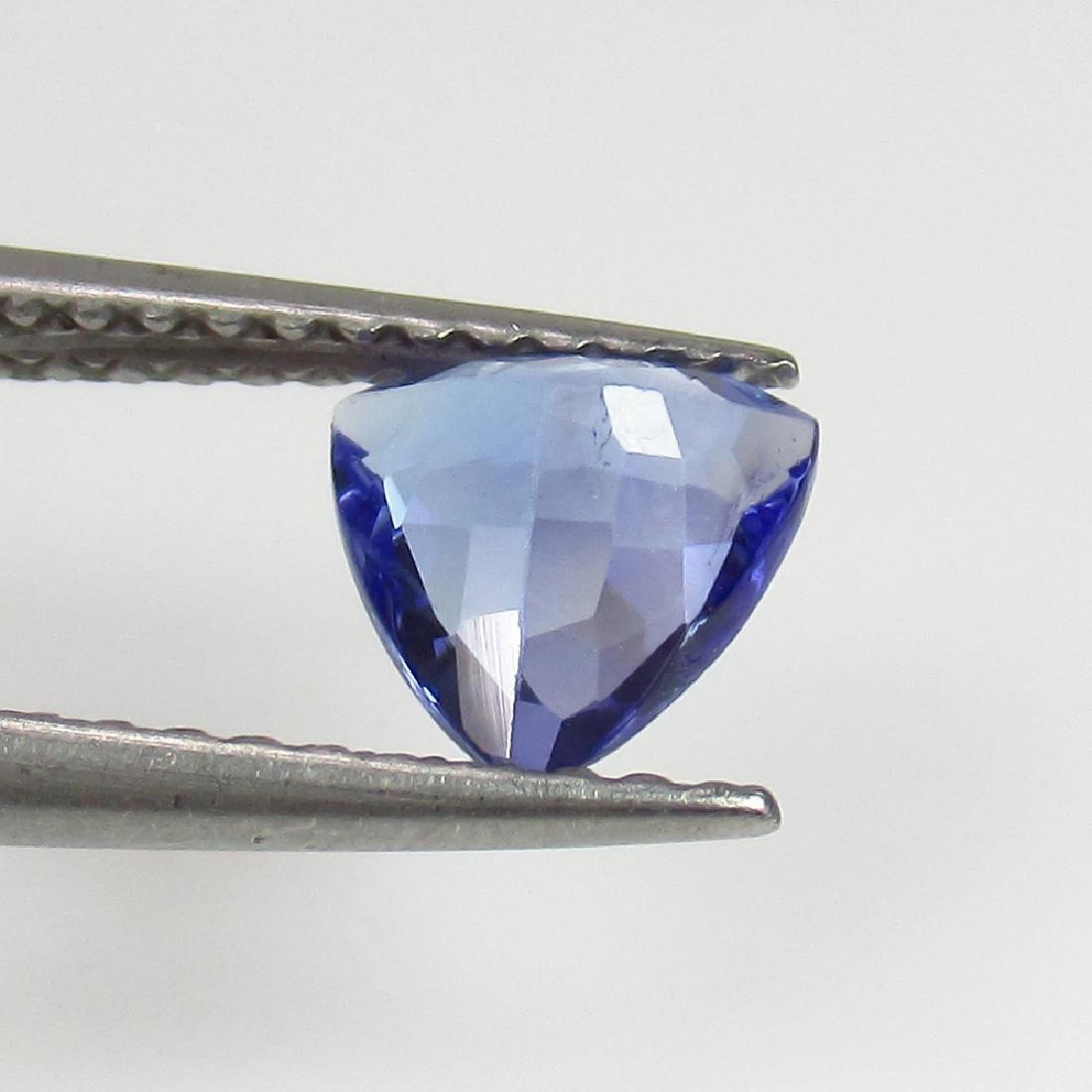 0.70 Ct Genuine Loose Tanzanite Trillion cut Top Luster - 2