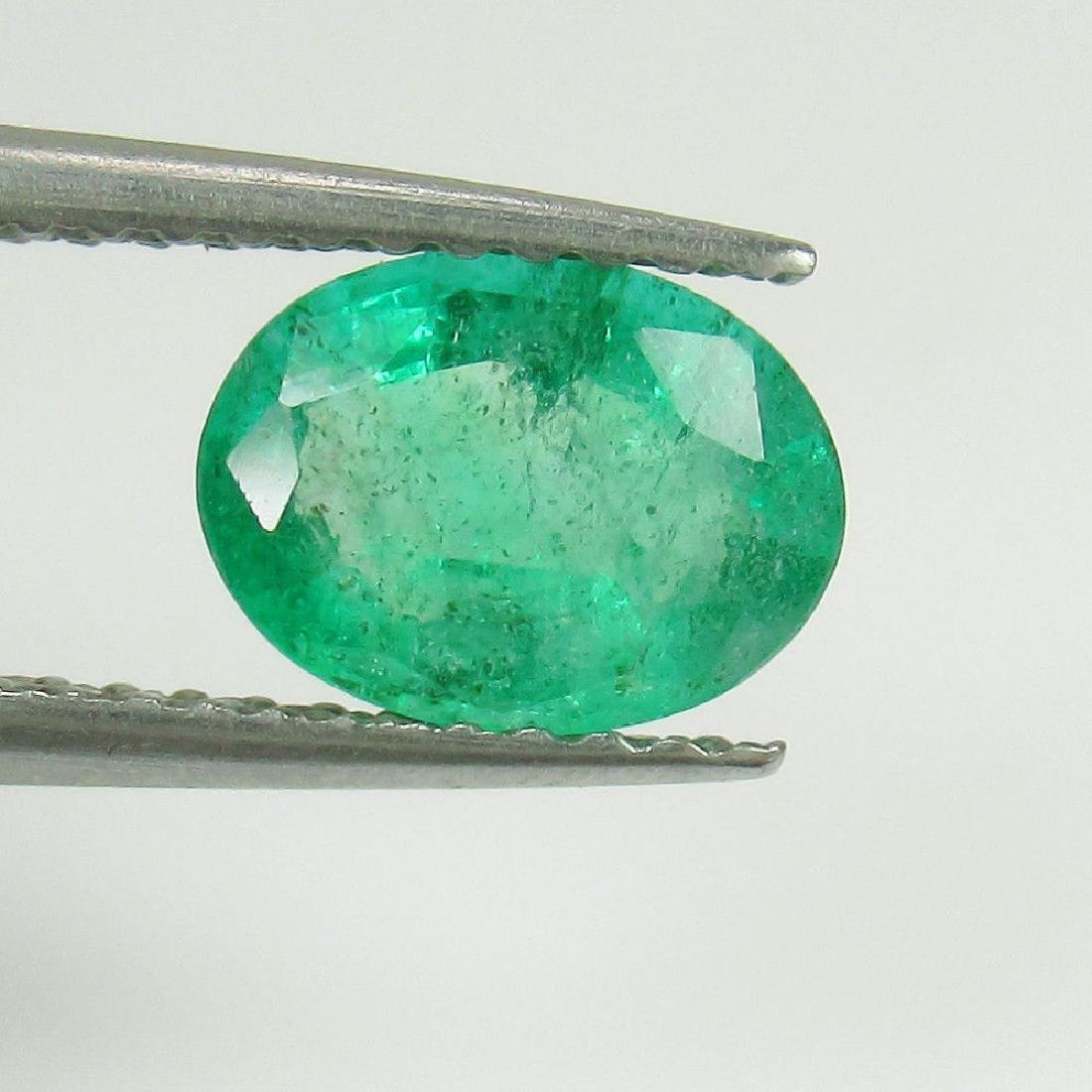 0.97 Ct Genuine Loose Zambian Emerald Oval cut - 2