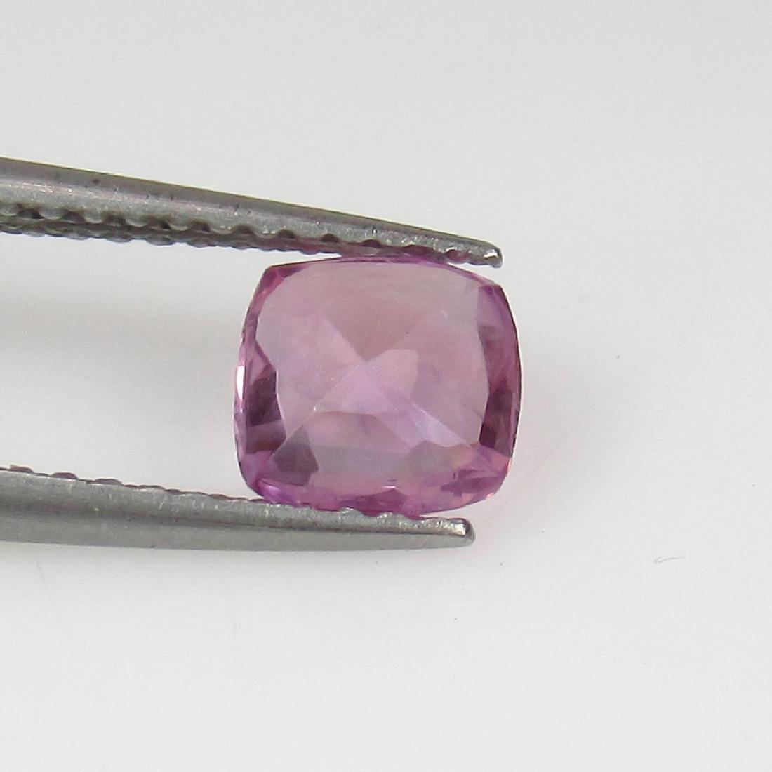 0.77 Ct Genuine Ceylon Unheated Sweet Pink Sapphire Top - 2