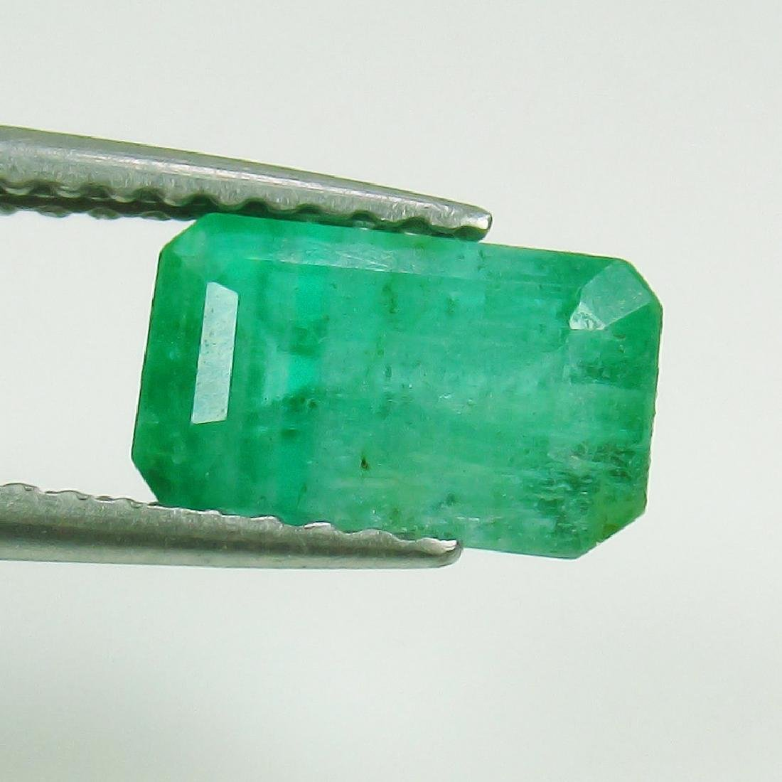 1.43 Ct Genuine Loose Zambian Emerald Excellent Octagon