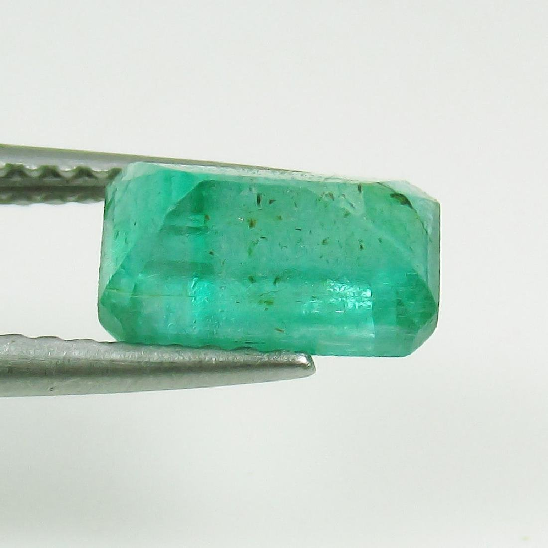 1.43 Ct Genuine Loose Zambian Emerald Excellent Octagon - 2