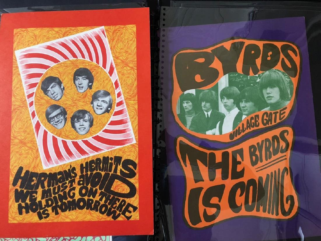 The Byrds and Herman's Hermits Poster Set