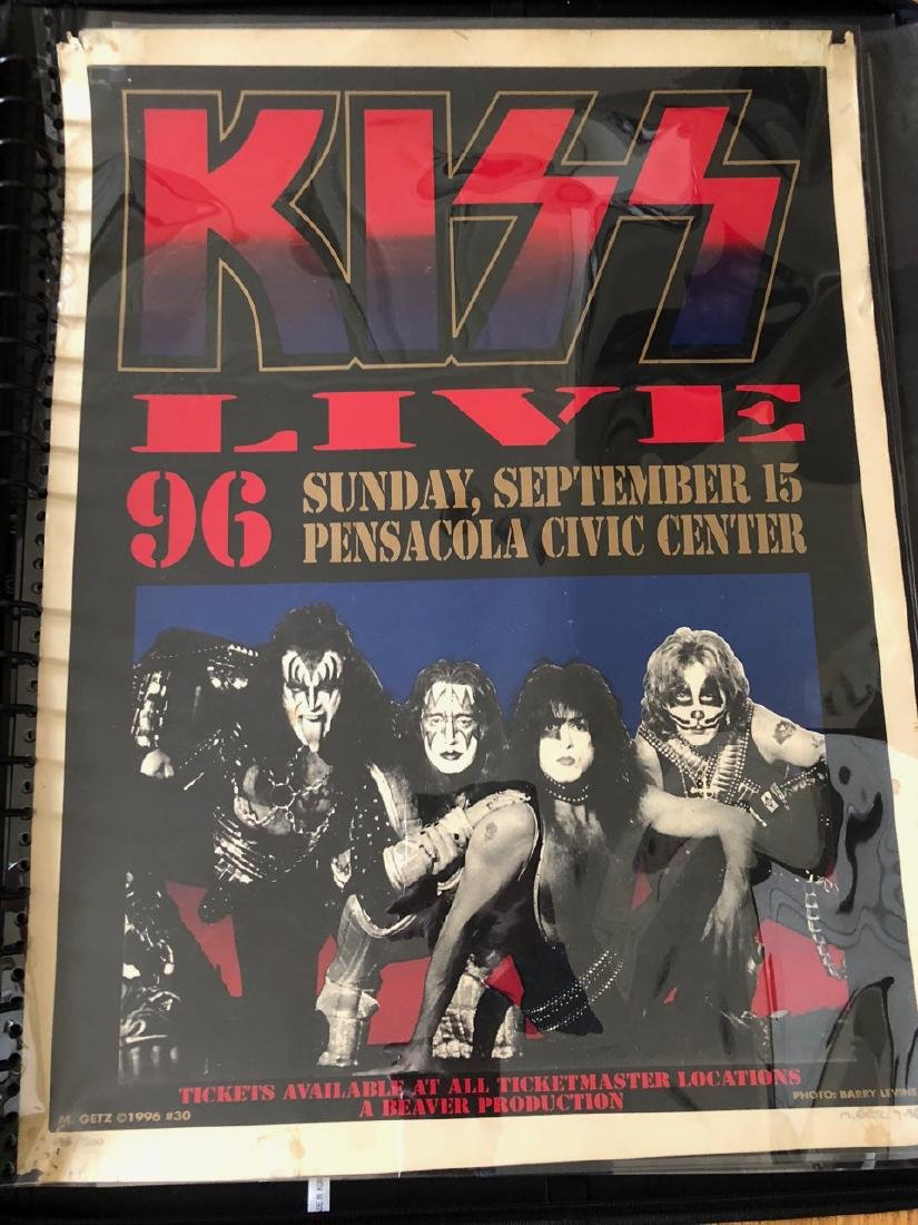 RARE KISS SIGNED / NUMBERED POSTER