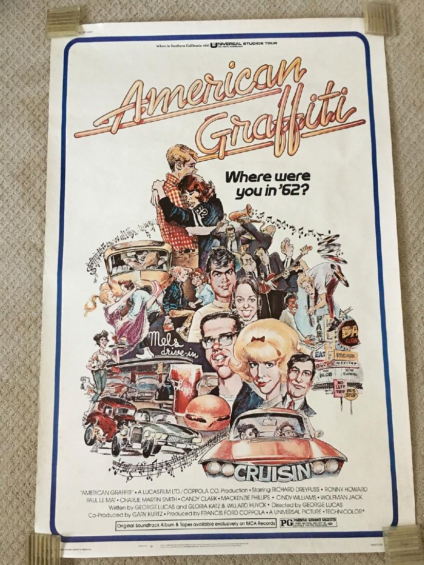 ORIGINAL 1973 AMERICAN GRAFFITI POSTER - Art by Mort
