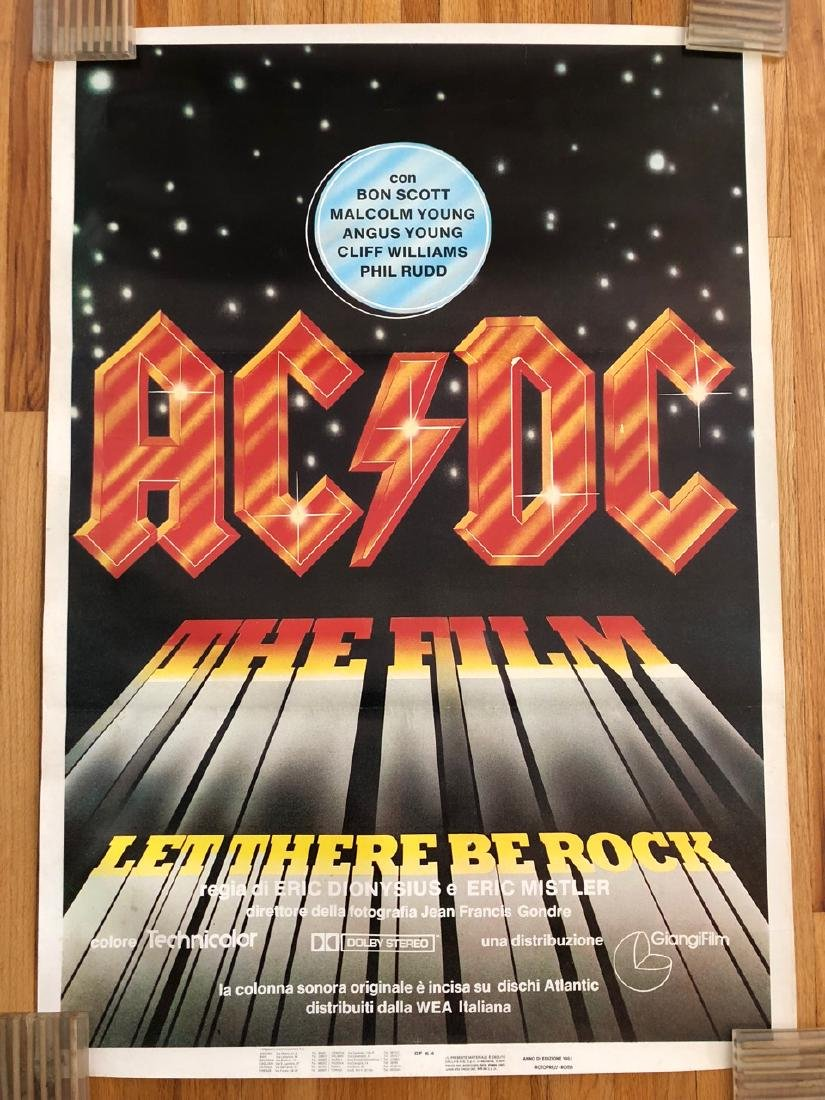 AC/DC LET THERE BE ROCK FILM POSTER