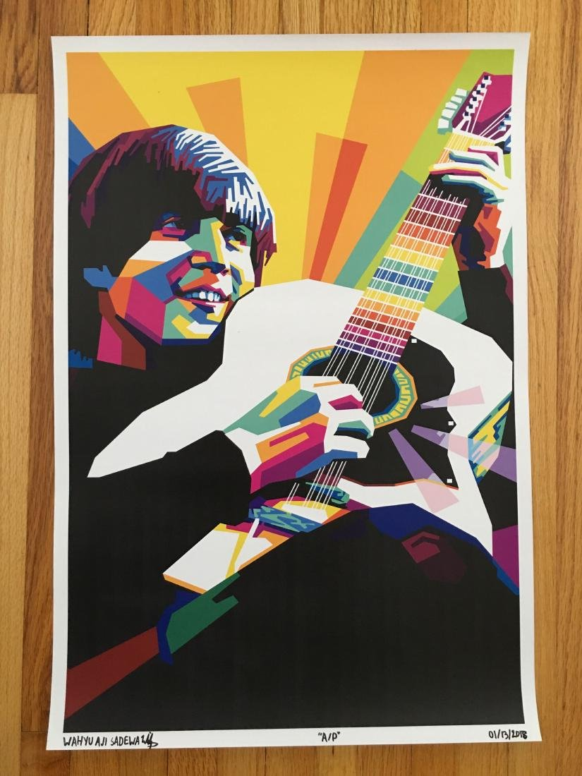 FIRST TIME OFFERED IN THE USA - LENNON GUITAR - ARTIST