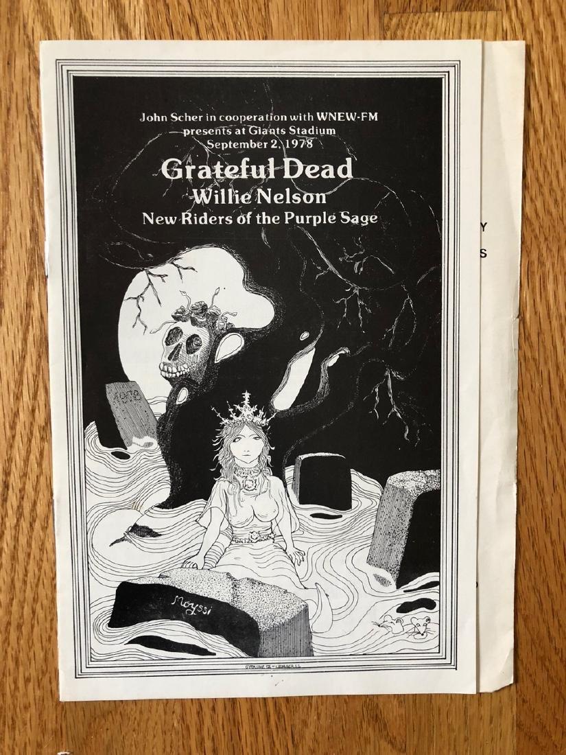 GRATEFUL DEAD GIANTS STADIUM PROGRAM