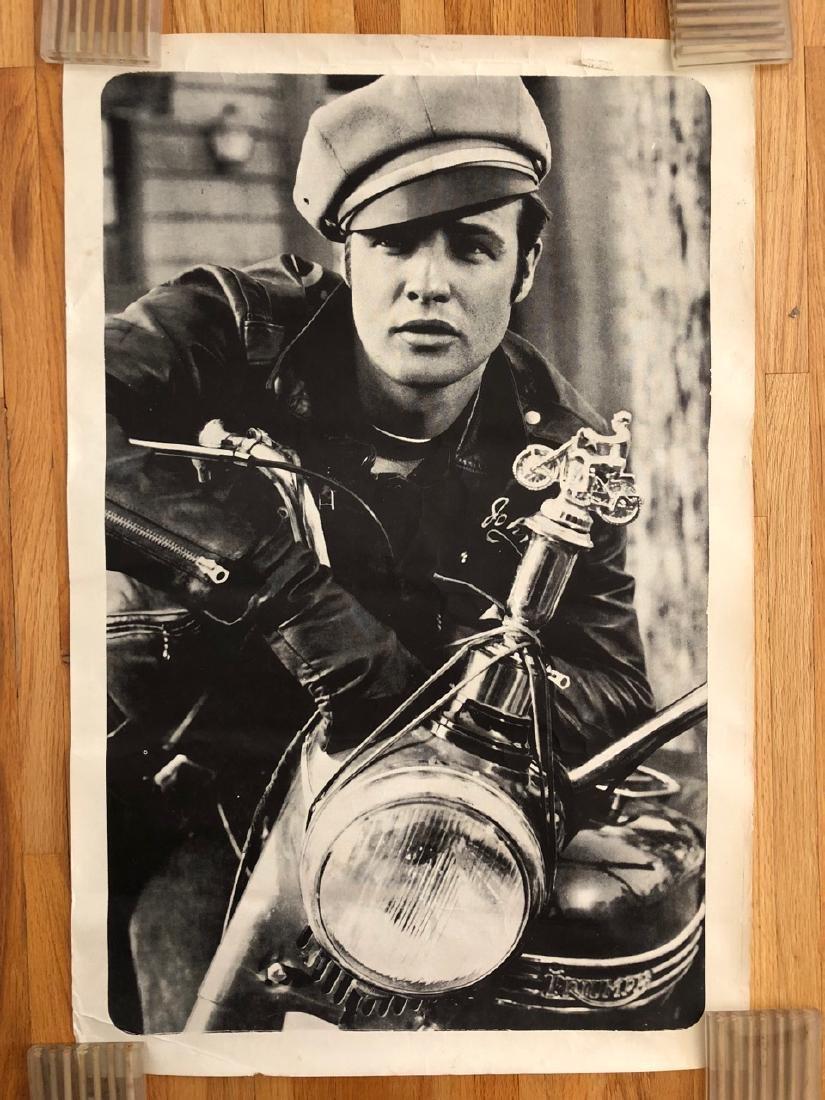 Marlon Brando On Triumph Motorcycle Vintage Poster