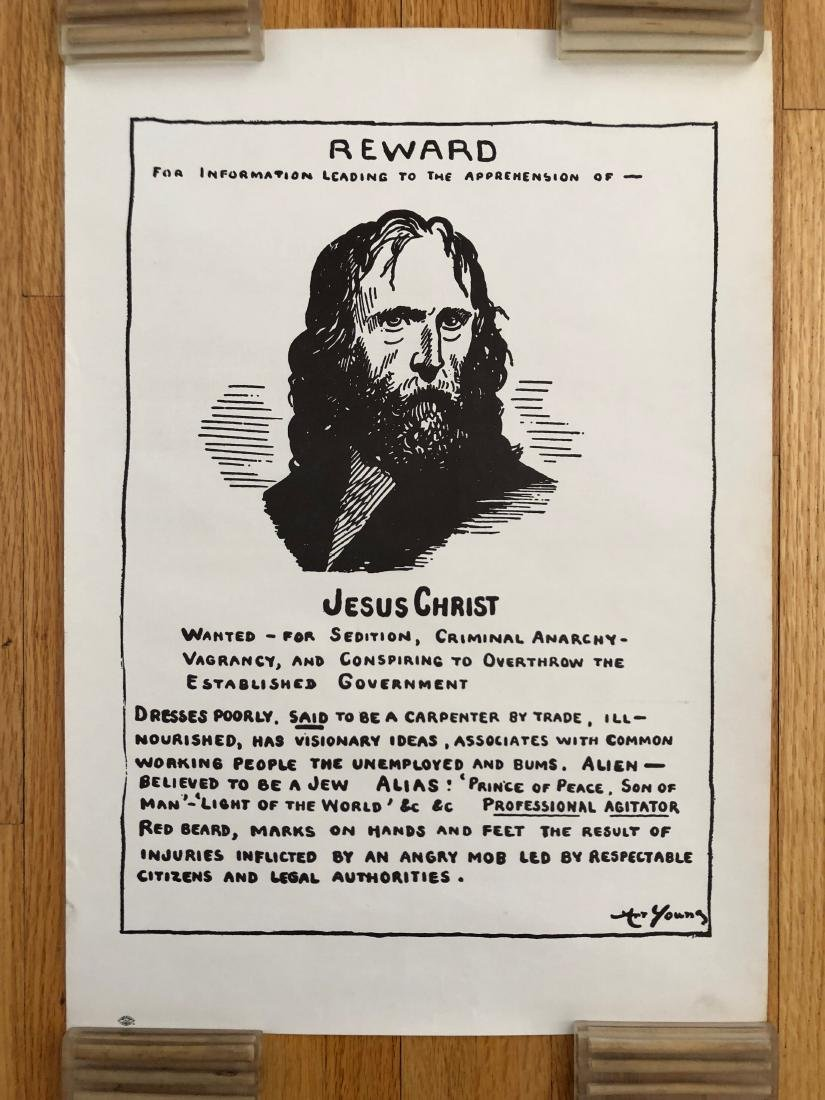 JESUS CHRIST WANTED POSTER