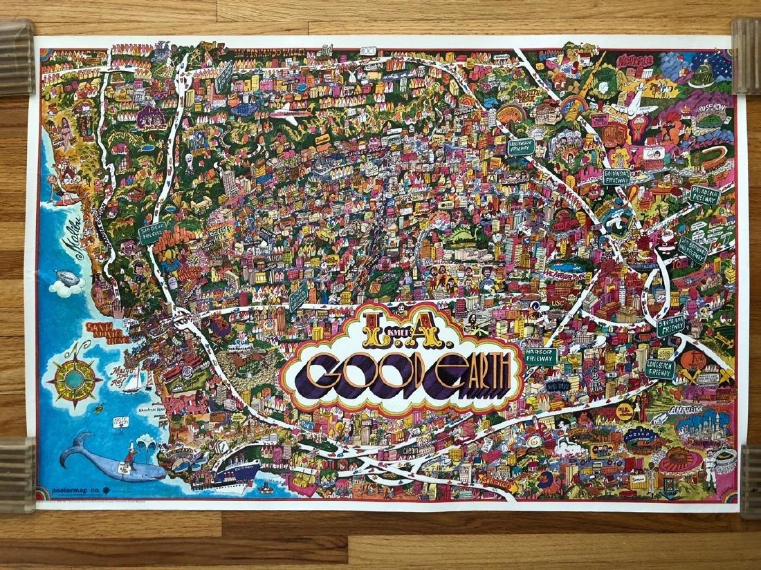 KMET Los Angeles 1971 Poster - GOOD EARTH