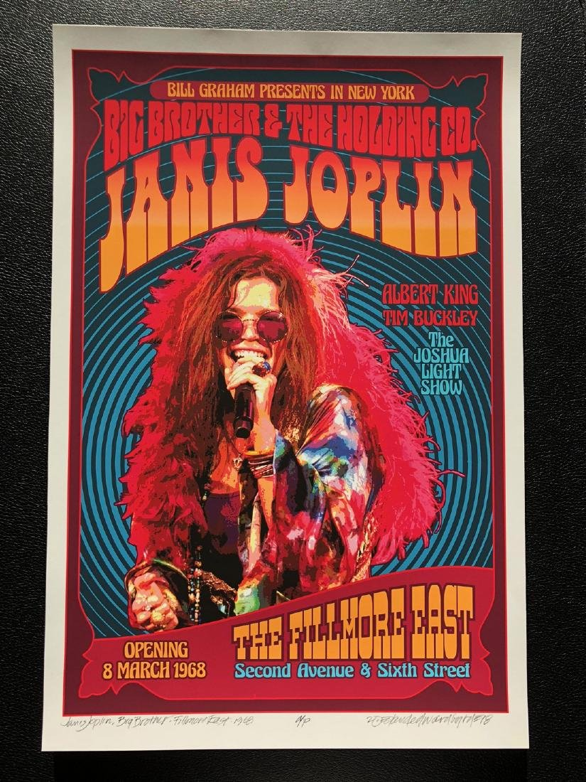 DAVID BYRD - Janis Joplin with Big Brother - Signed