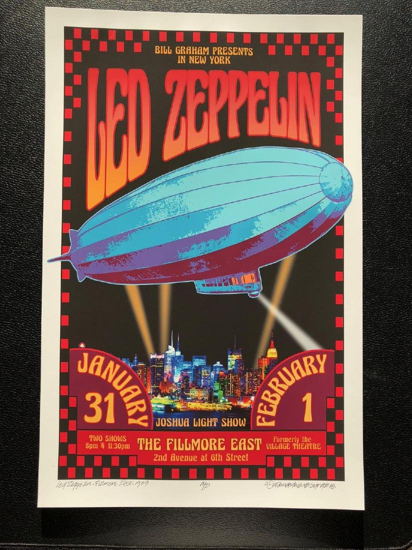 DAVID BYRD - Led Zeppelin - Signed Artists Proof