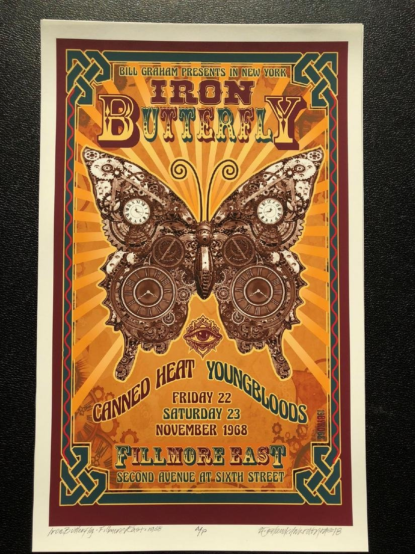 DAVID BYRD - IRON BUTTERFLY - Signed Artists Proof