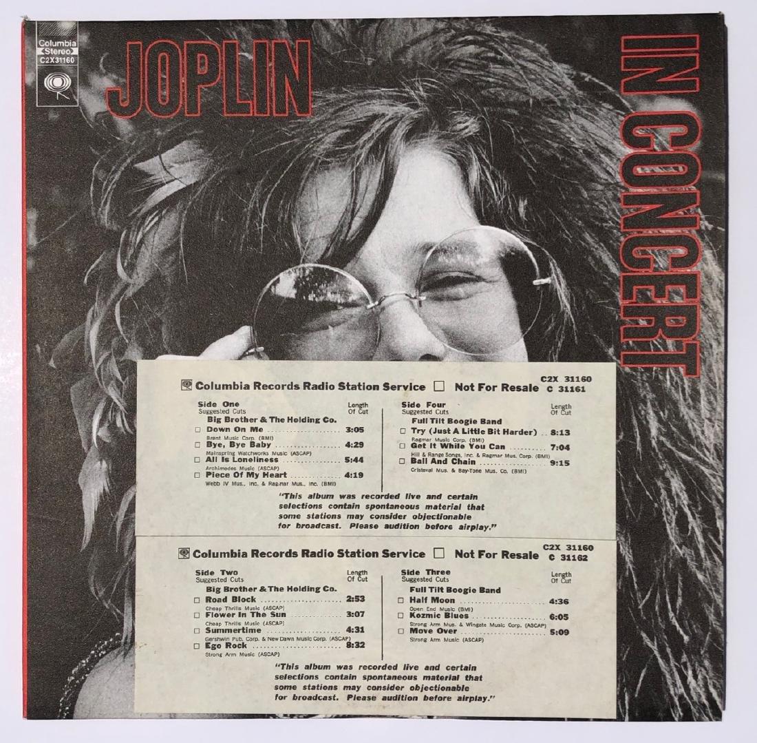 JANIS JOPLIN - IN CONCERT - RARE RADIO STATION COPY