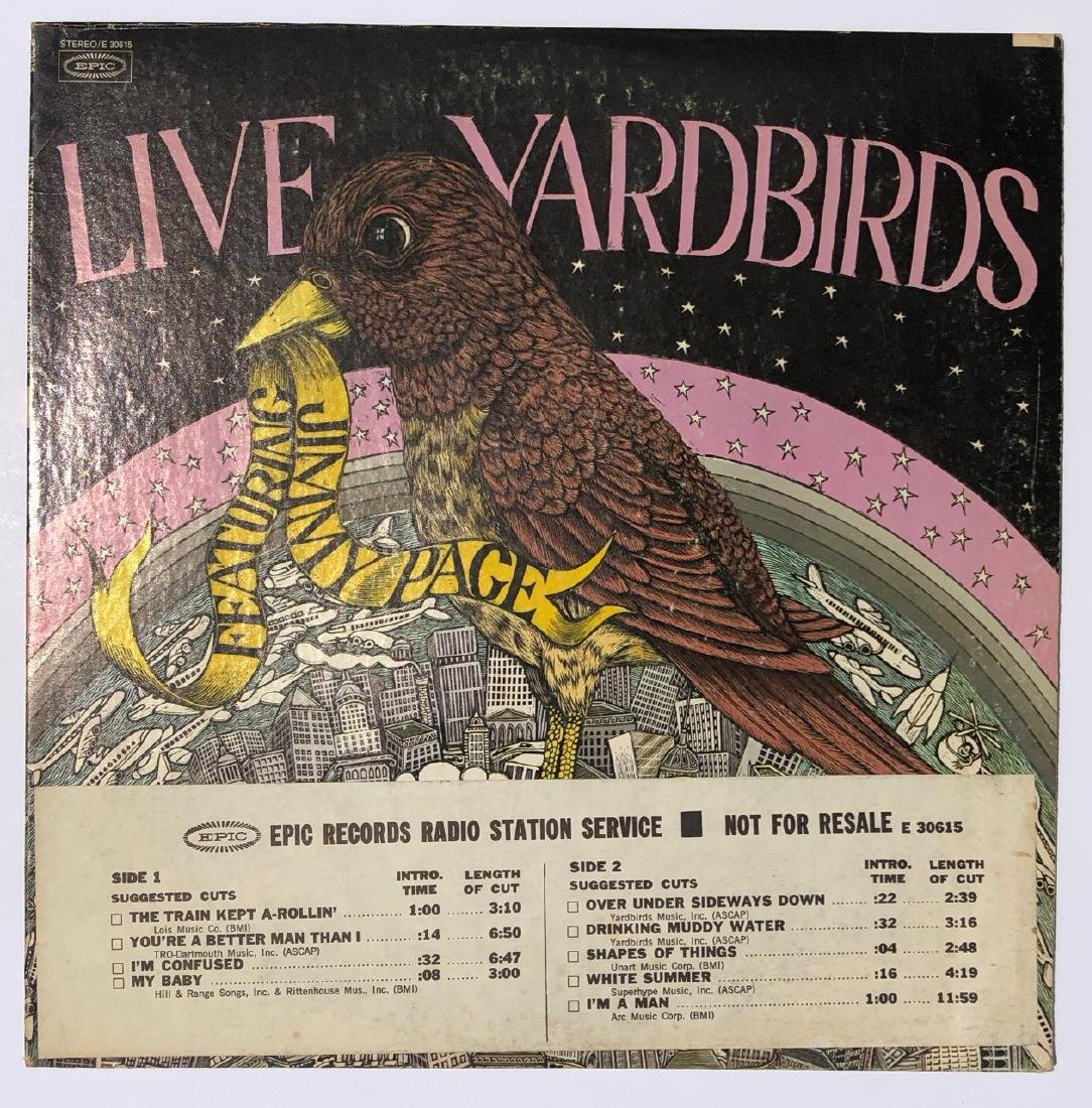 YARDBIRDS LIVE - - RARE RADIO STATION COPY
