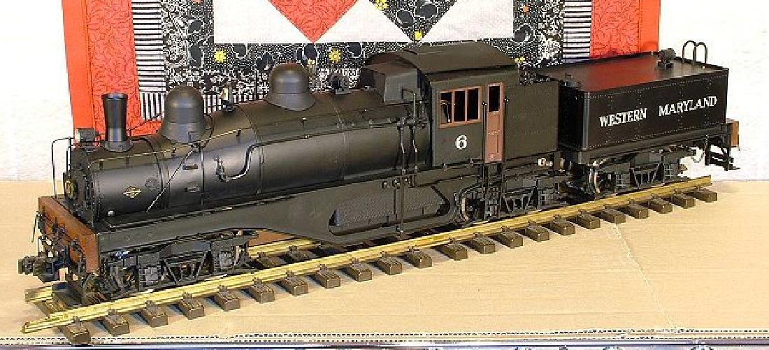 Aster West Maryland Shay No. 6 brass/steel locomotive, - 2