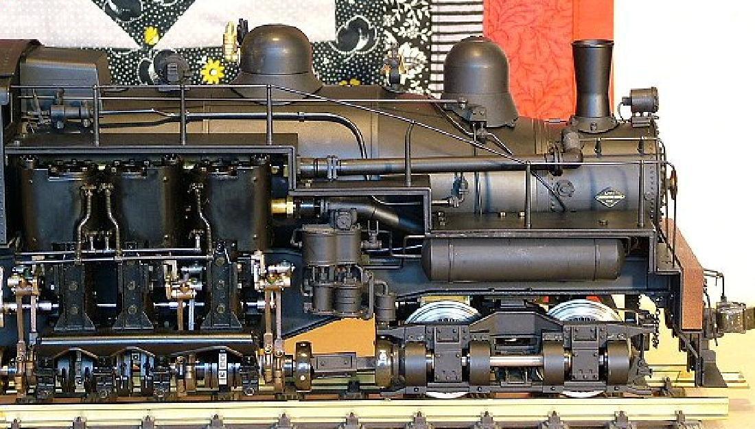 Aster West Maryland Shay No. 6 brass/steel locomotive, - 5