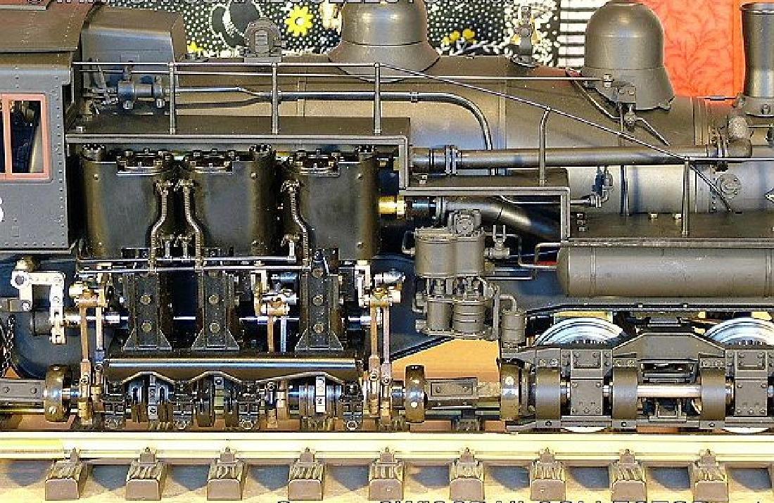 Aster West Maryland Shay No. 6 brass/steel locomotive, - 6