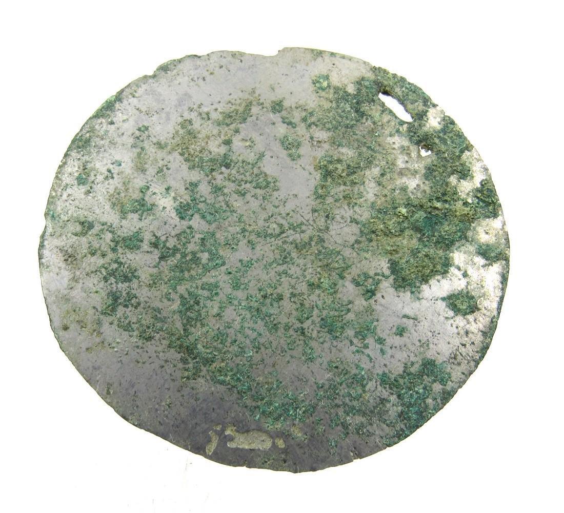 Ancient Roman Bronze Decorated Mirror - 3