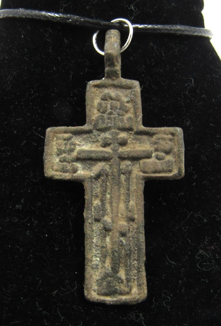 Post Medieval Bronze Cross Pendant