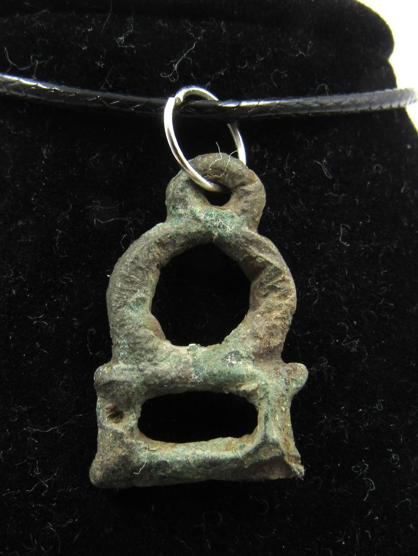 Ancient Roman Bronze Temple Pendant