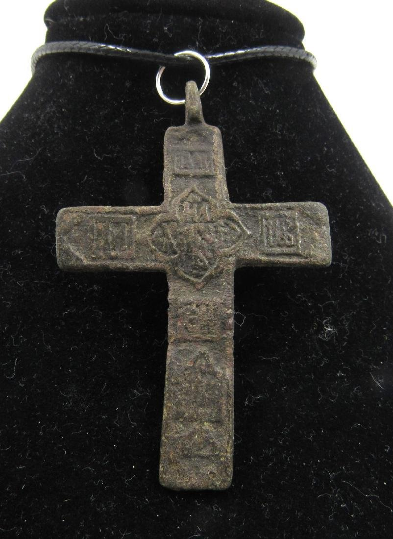 Post Medieval Bronze Cross Pendant - 2