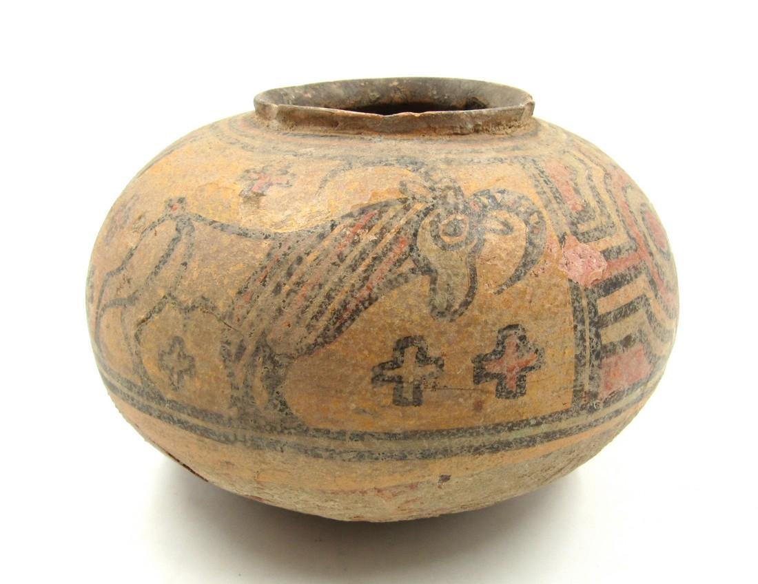 Ancient Indus Valley Terracotta Jar with Stag & Lion