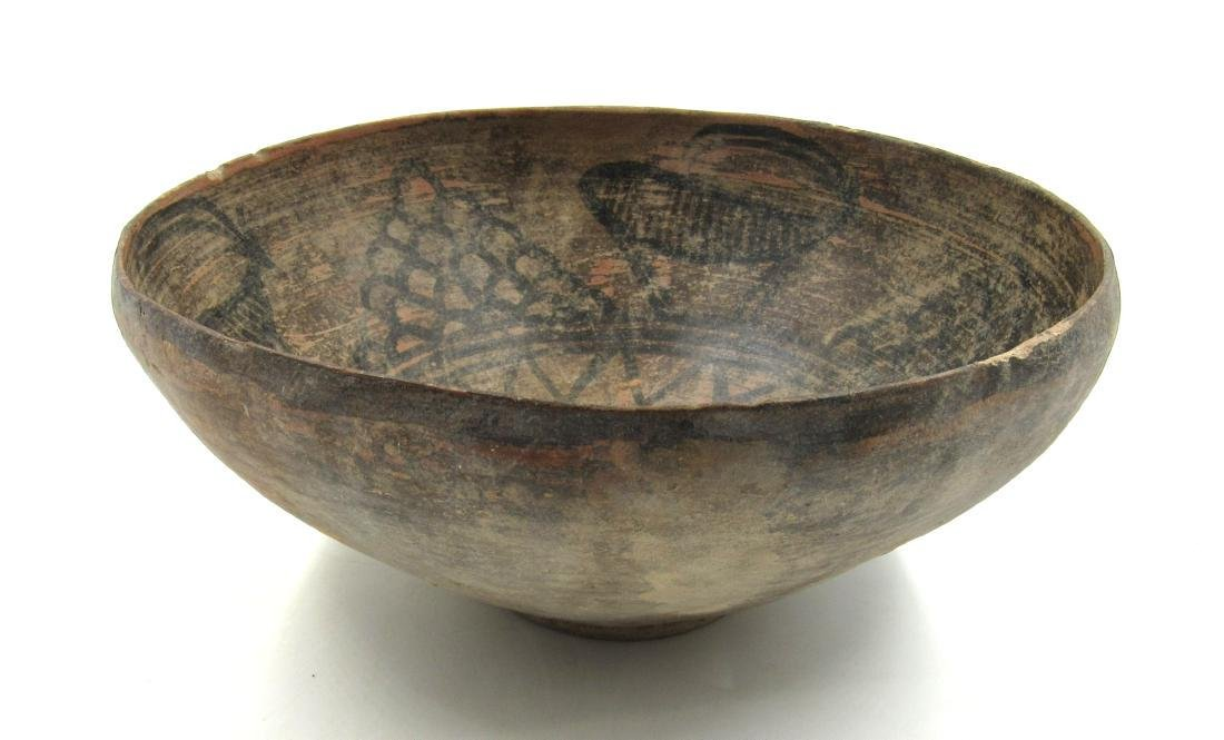 Ancient Indus Valley Terracotta Bowl with Deer - 2