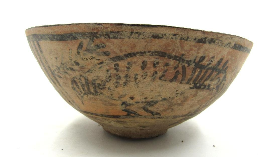 Ancient Indus Valley Terracotta Bowl with Birds