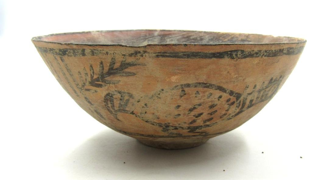 Ancient Indus Valley Terracotta Bowl with Birds - 2