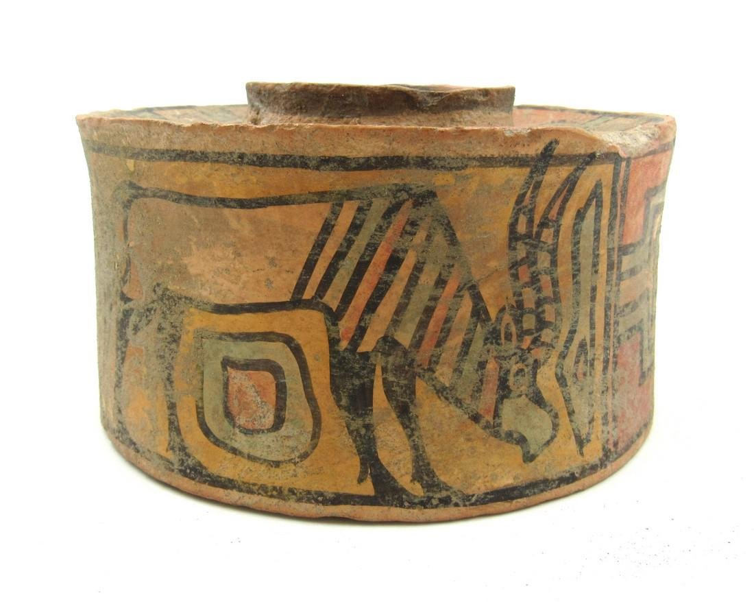 Ancient Indus Valley Terracotta Jar with Stag & Zebu