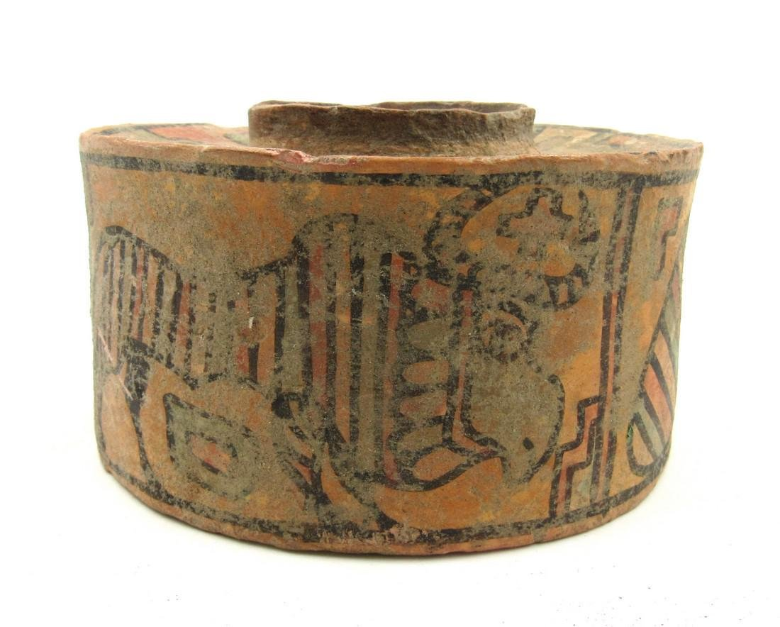 Ancient Indus Valley Terracotta Jar with Stag & Zebu - 2