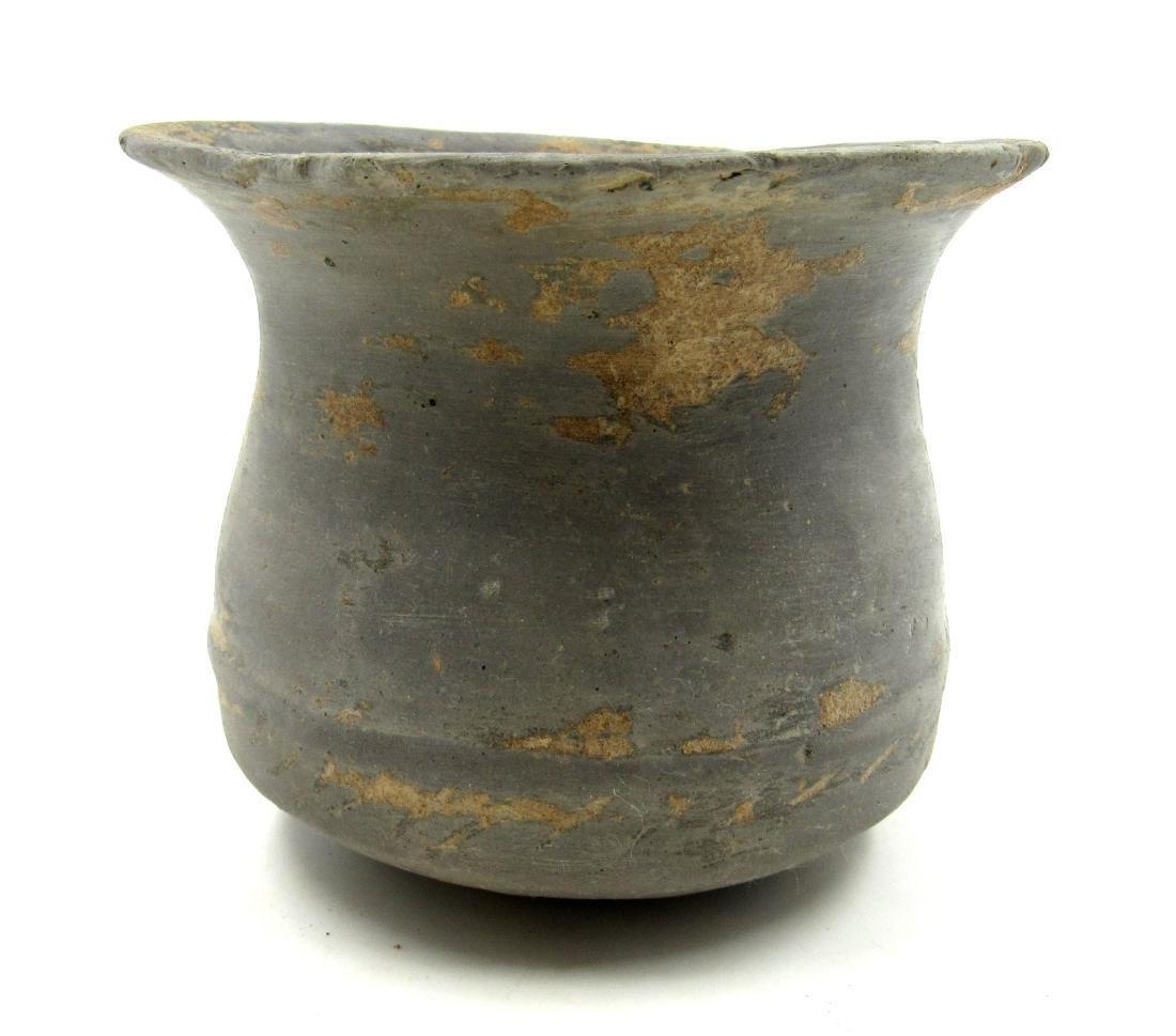 Ancient Greek Terracotta Blackware Jar