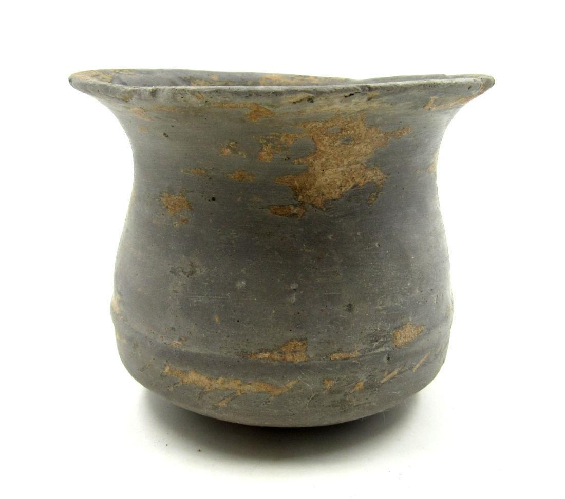 Ancient Greek Terracotta Blackware Jar - 2