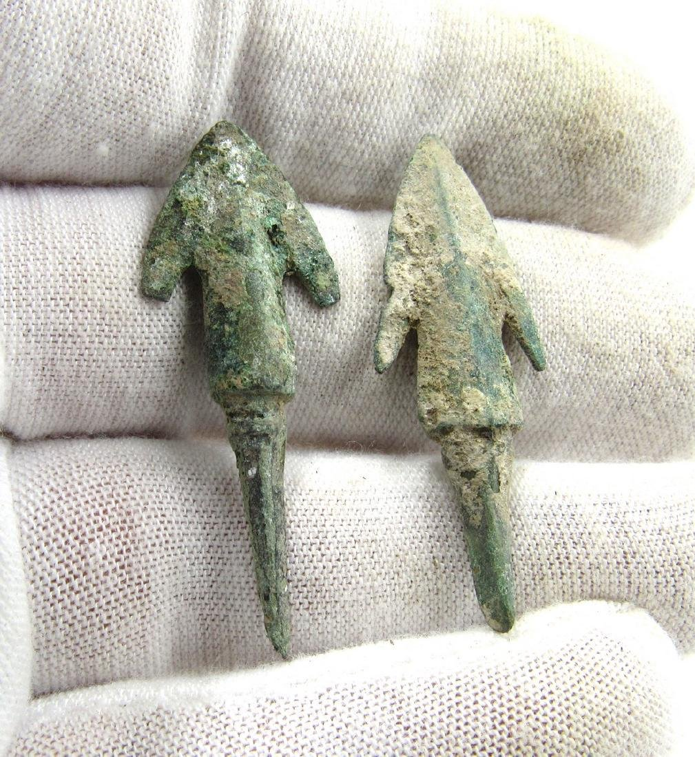 Pair of Ancient Greek Bronze Arrows - 3