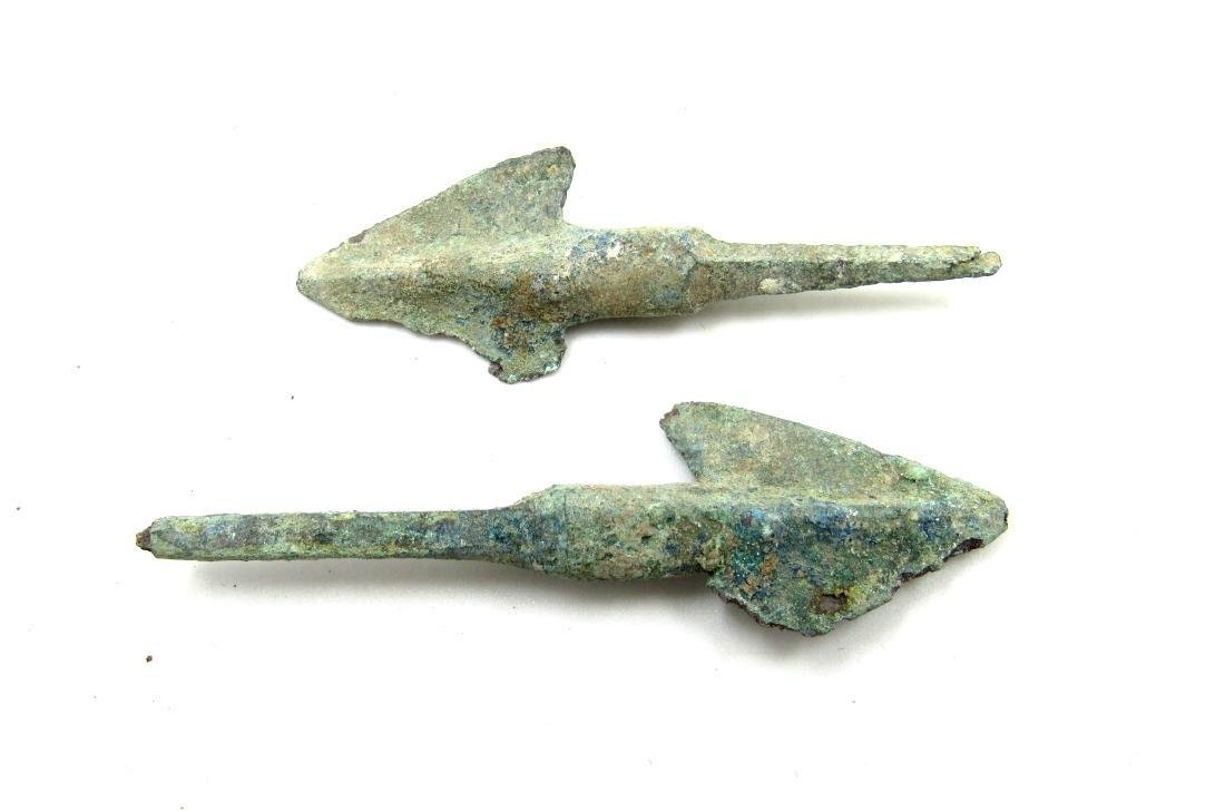 Pair of Ancient Greek Bronze Arrows - 2