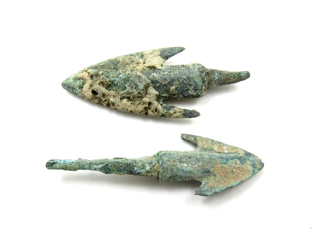 Pair of Ancient Greek Bronze Arrows