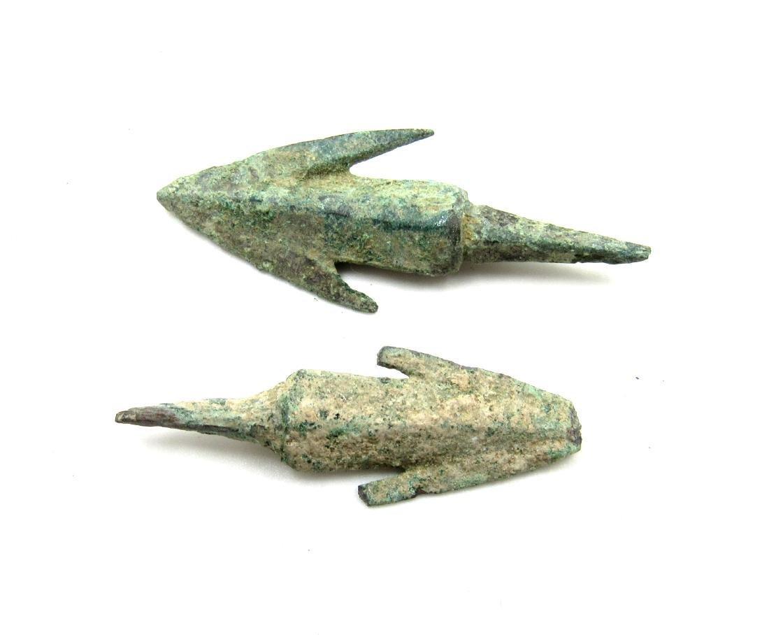Pair of Ancient Greek Bronze Arrows